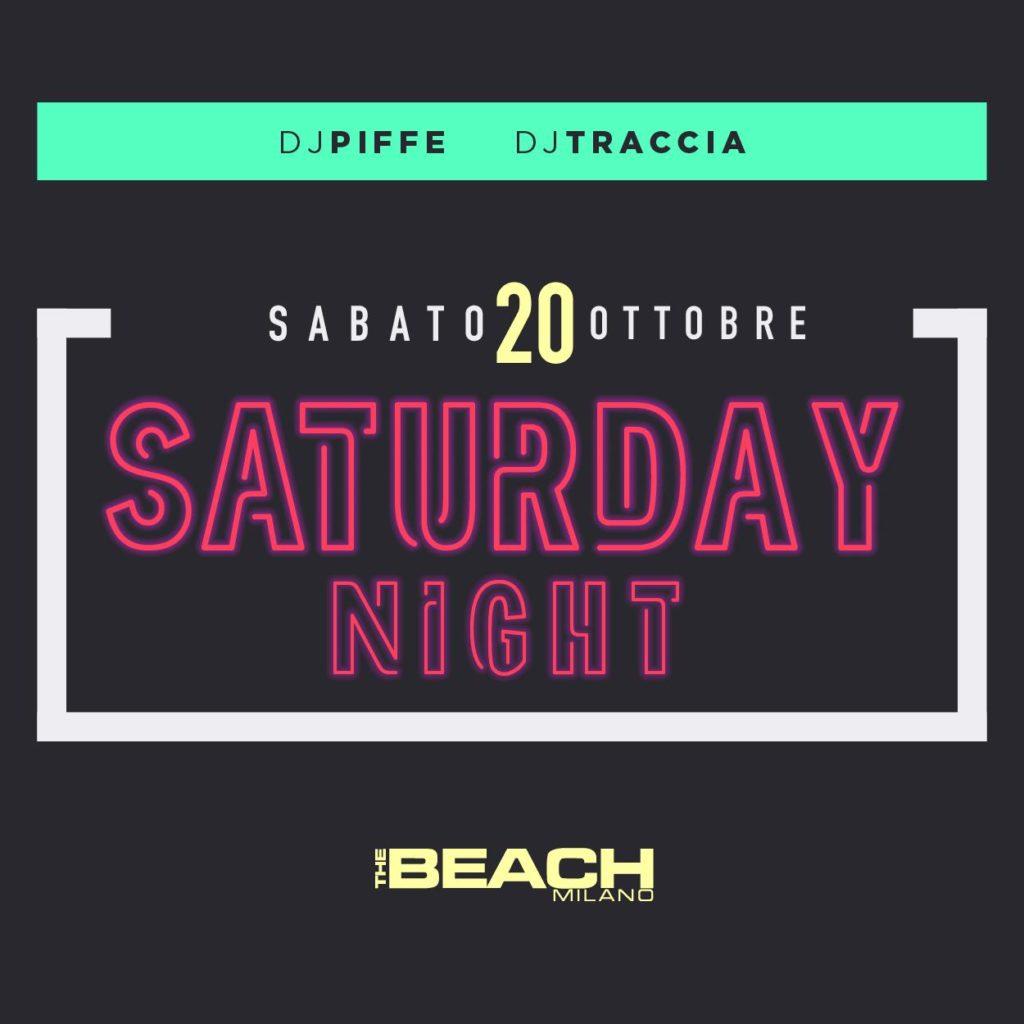 Sabato sera The Beach Club Milano | Sabato 20-10-18