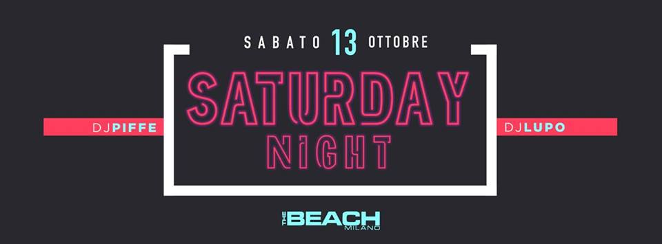 Sabato The Beach Club Milano | Sabato 27-10-18