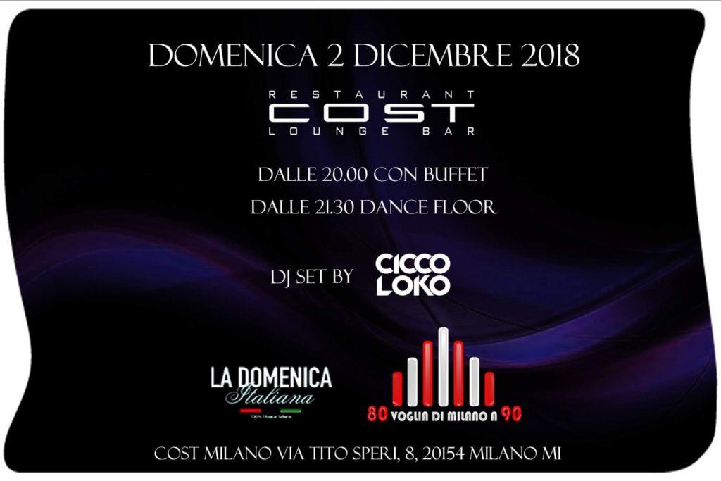 Domenica al Cost Milano