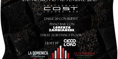 Domenica aperitivo Cost Milano