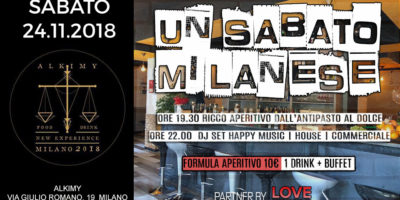 Sabato all'Alkimy Milano | 24.11.18