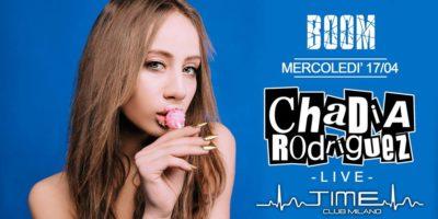 Chadia Rodriguez live al Time Club di Milano il 17 Aprile 2019