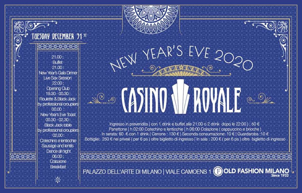 Capodanno Old Fashion Milano 2020